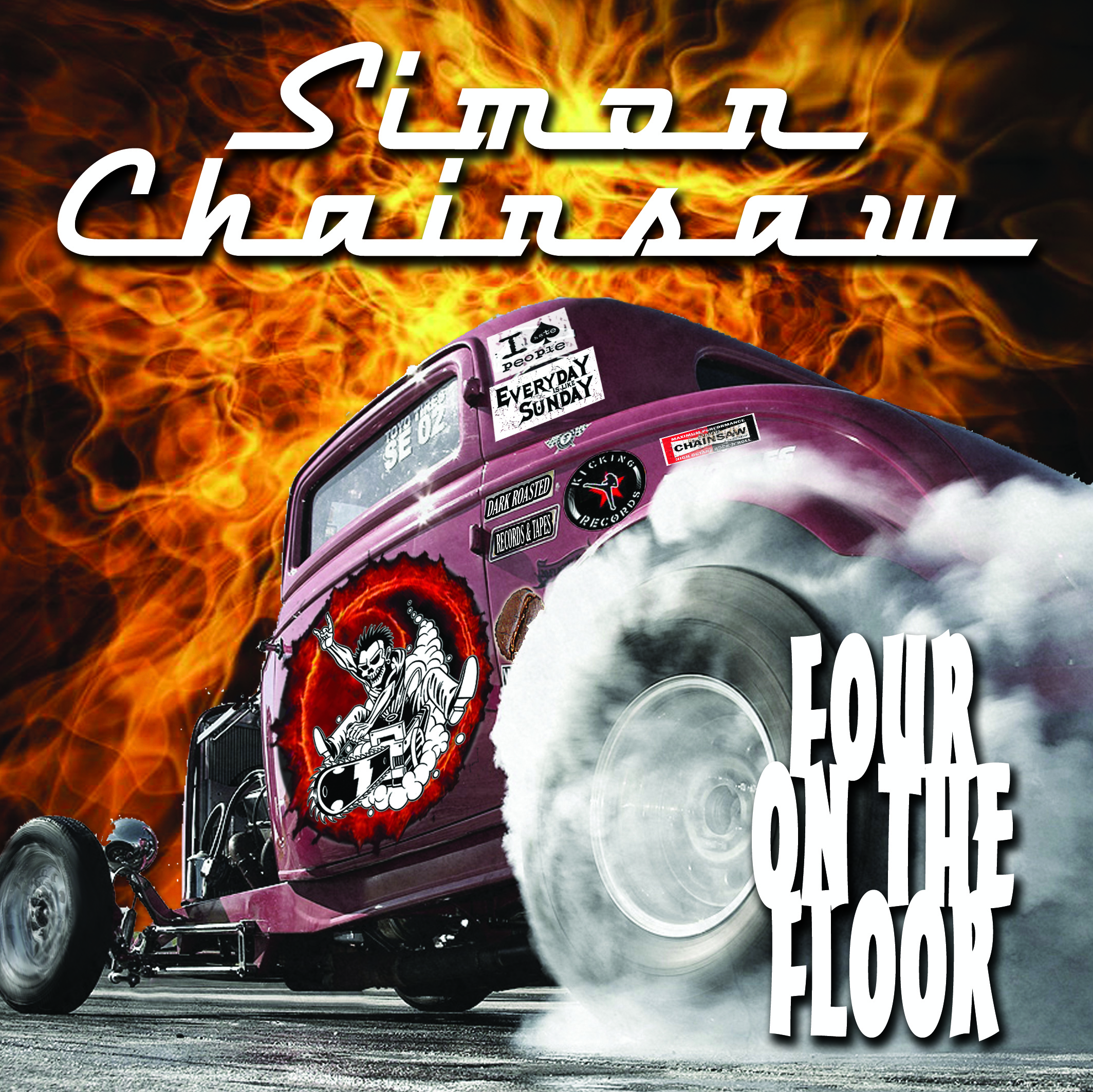 "SIMON CHAINSAW ""Four On The Floor"" 7"""