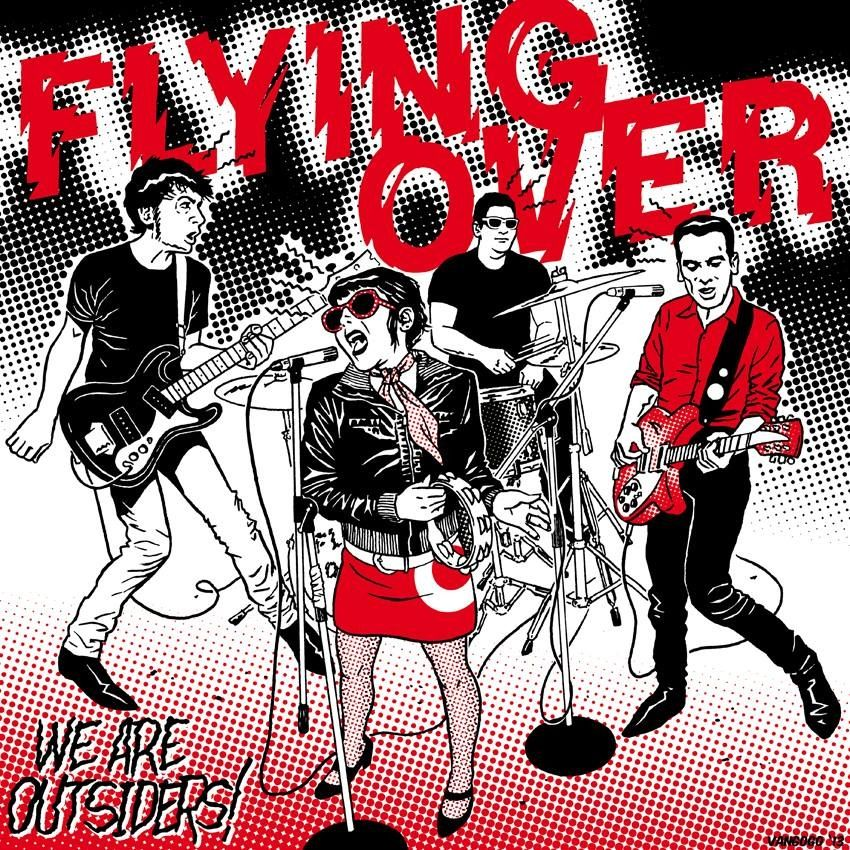 "FLYING OVER ""We Are Outsiders"" LP 12"""