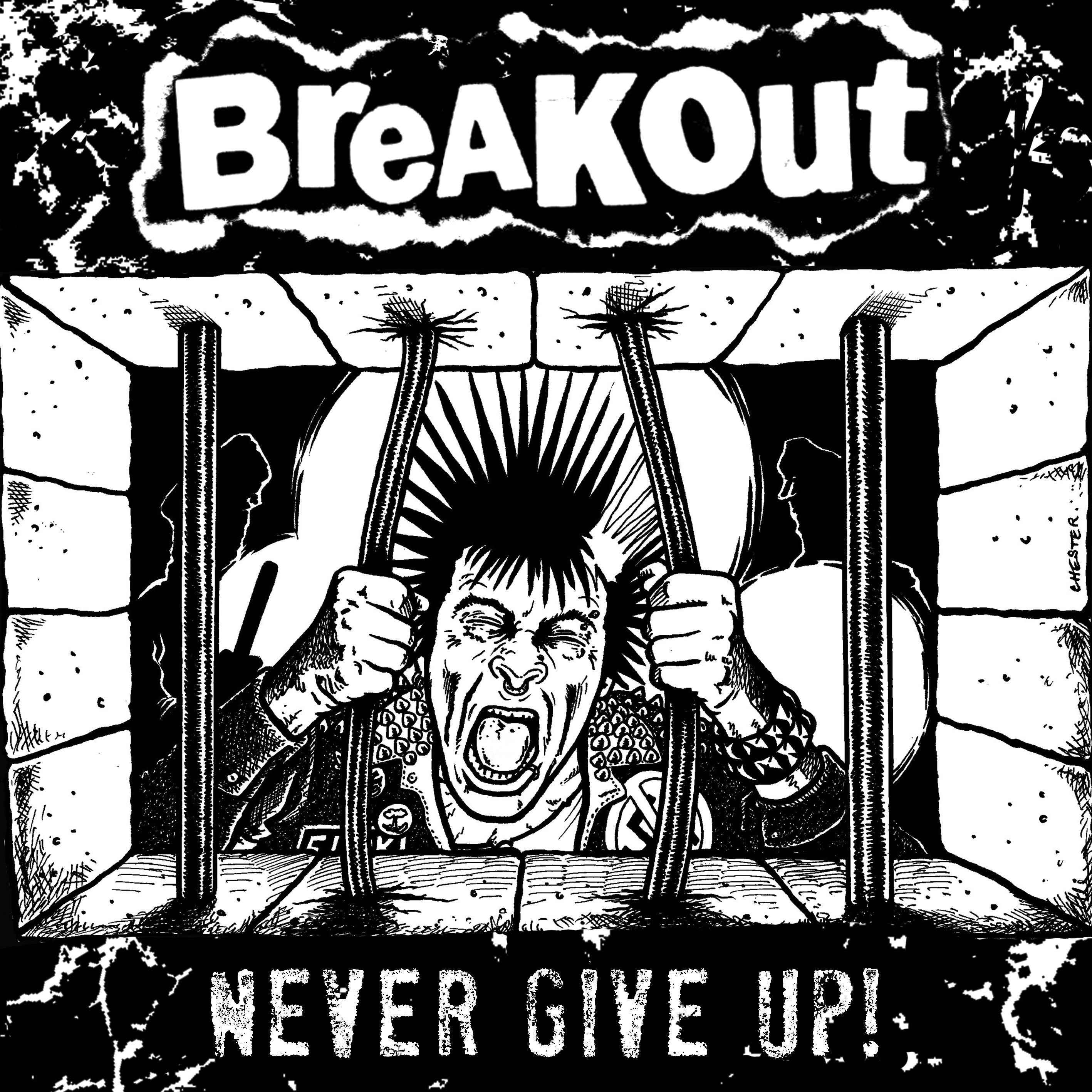 "BREAKOUT ""Never Give Up !"" 7"""