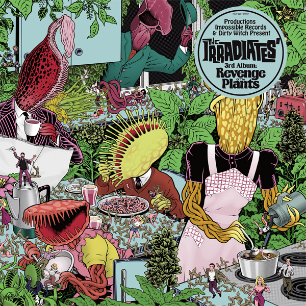 "THE IRRADIATES ""Revenge of the Plants"" LP 12"""