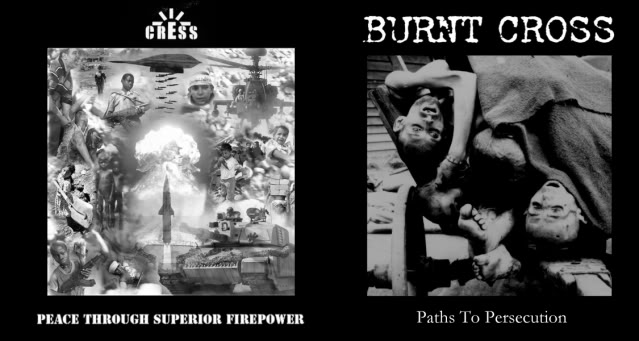 BURNT CROSS / CRESS split 7""