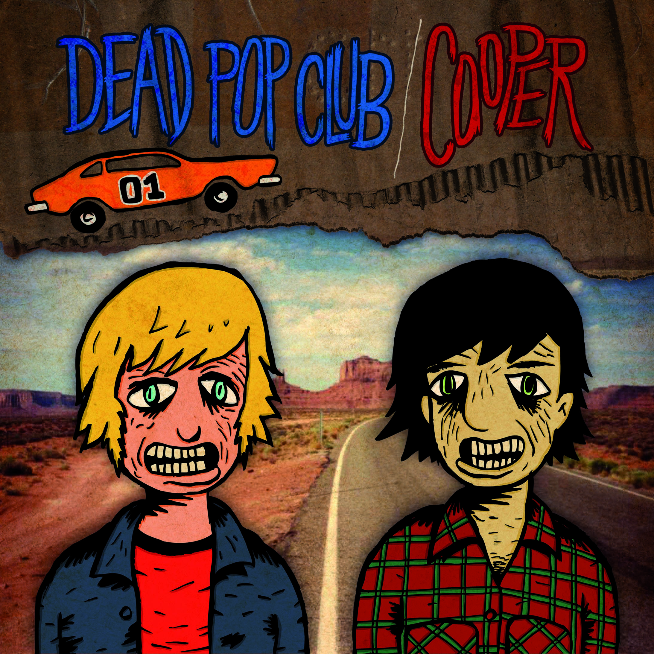 COOPER / DEAD POP CLUB split 7""