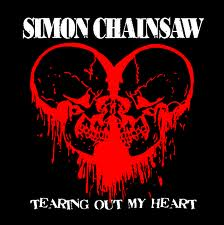 "SIMON CHAINSAW ""Tearing Out My Heart"" EP 7"""